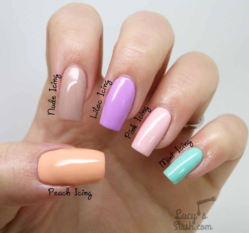Models Own Icing Collection - Review & Skittle Nail Art