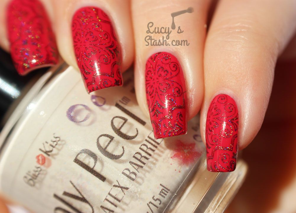 Holo Stamping &amp&#x3B; Bliss Kiss Simply Peel Latex Barrier + TUTORIAL