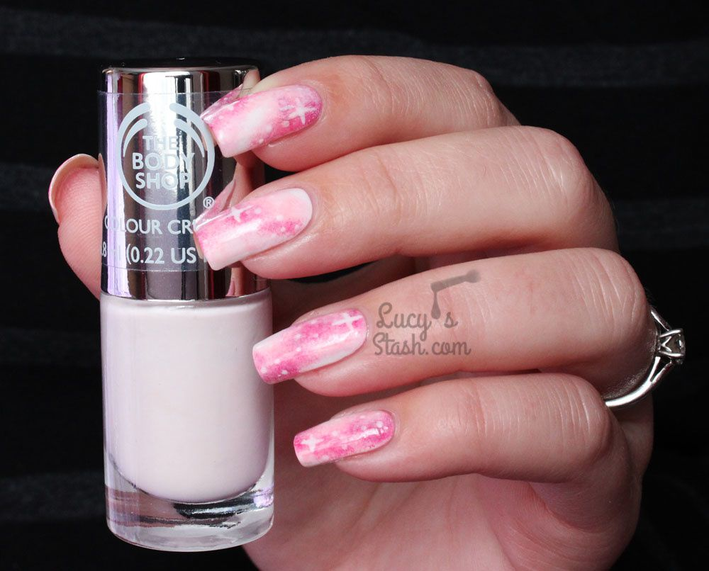 Pastel Pink Galaxy Nails TUTORIAL with The Body Shop! + Report From ...