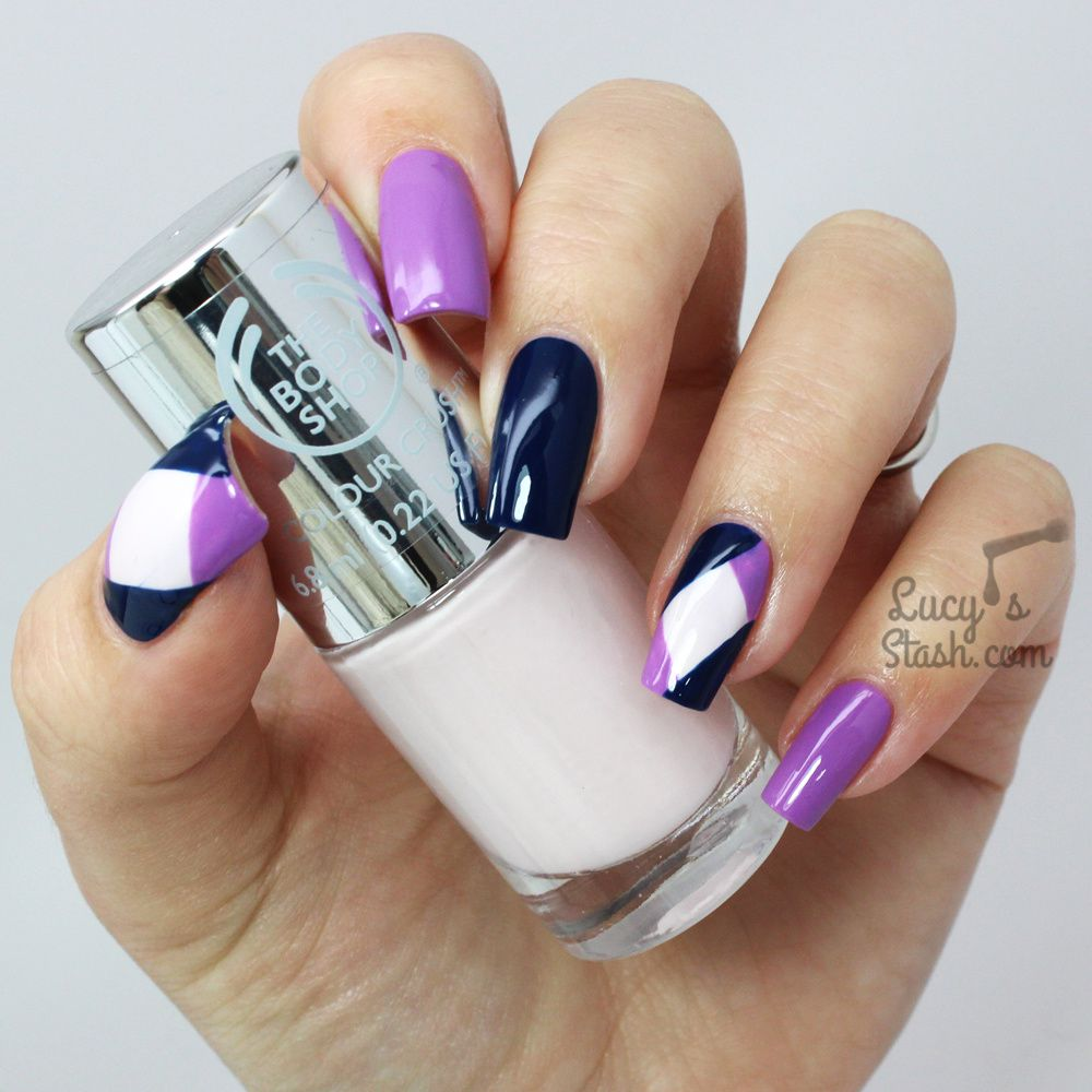 Colour block nail art with the body shop colour crush polishes colour block nail art with the body prinsesfo Images