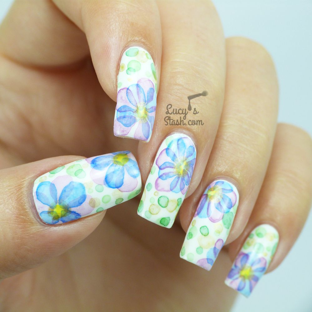 Floral Nail Art: Watercolour Flower Nail Art ♥