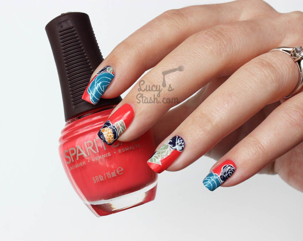 Retro Floral Nail Art with SpaRitual Polishes