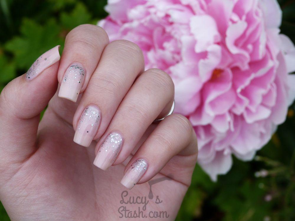 Bridal Nails Inspiration - Romantic Glitter Gradient Nail Art