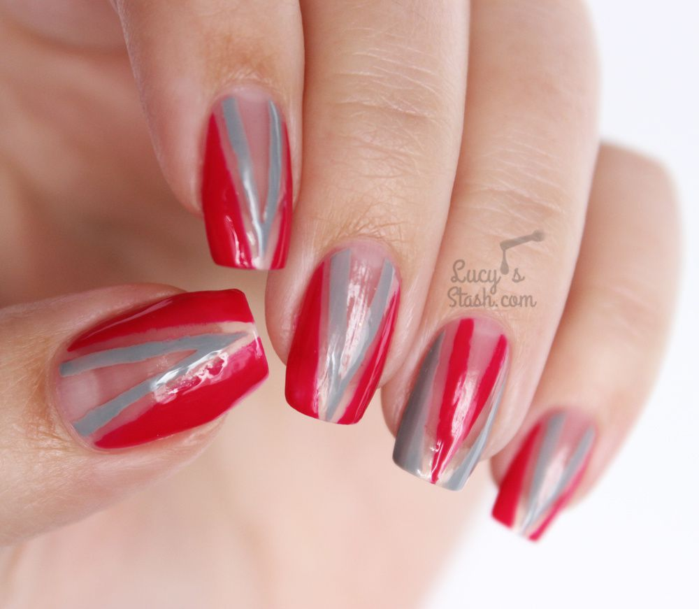 Negative Space All The Nail! Chevron Nail Art feat. 'Ard As Nails & TUTORIAL