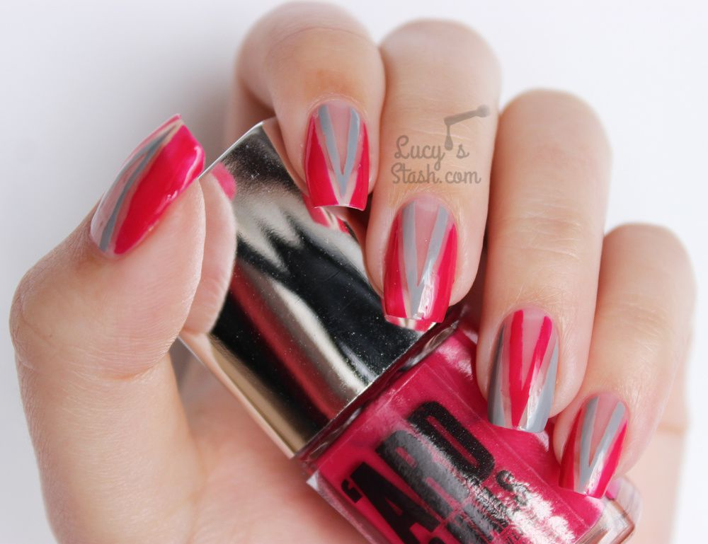 Negative E All The Nail Chevron Art
