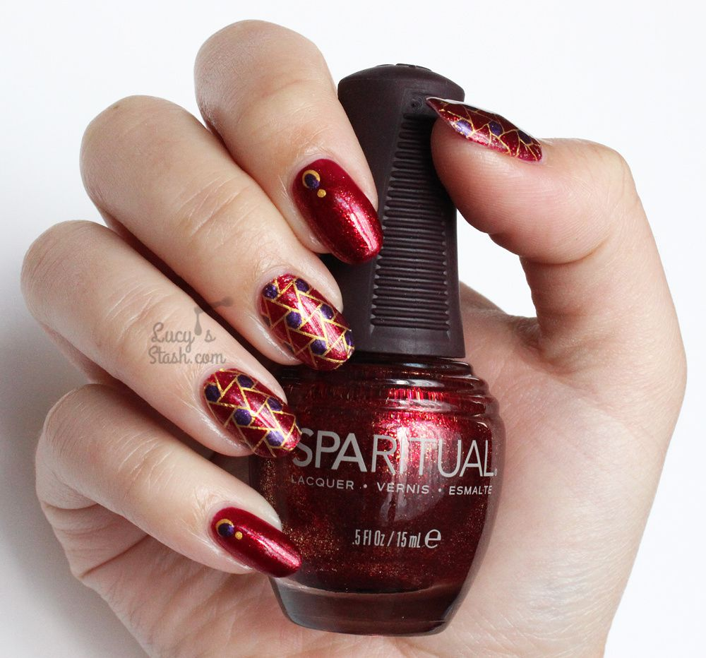 Geometric Stamping Nail Art with SpaRitual
