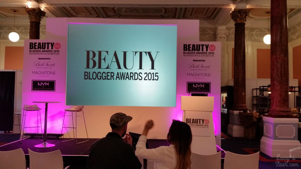 Beauty Blog Awards in Pillar Hall, the view of Olympia Beauty Exhibition