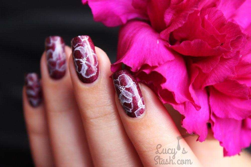 Watercolour Flower Nail Art &amp&#x3B; A England GIVEAWAY