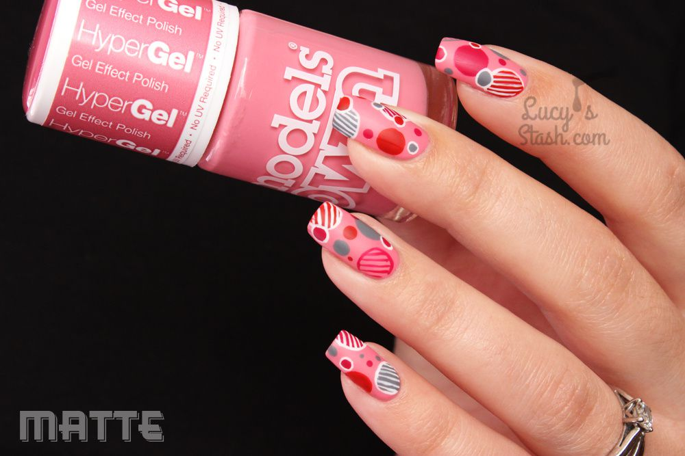 Fun with dots! Nail Art with Models Own HyperGel shades