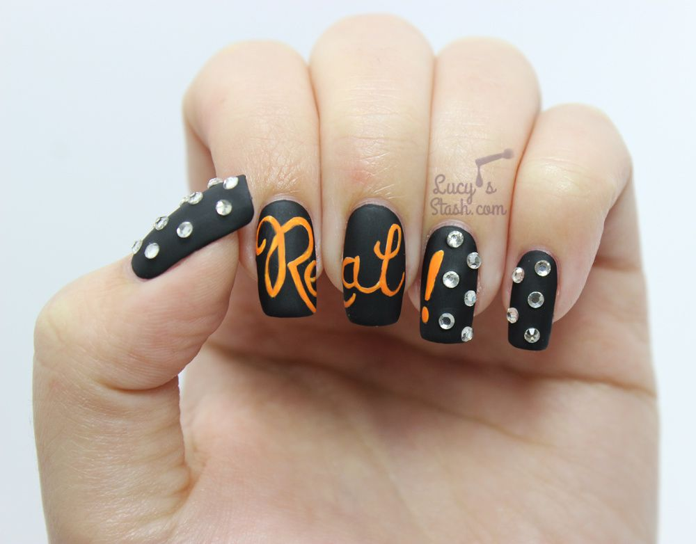 Nail Art Manicure Inspired By Benefit Theyre Real Swarovski