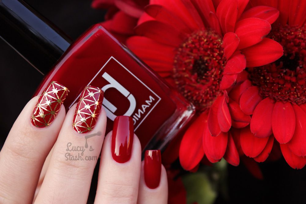 Fiery Nails With HJ Manicure Red Wine &amp&#x3B; All That Jazz Stickers