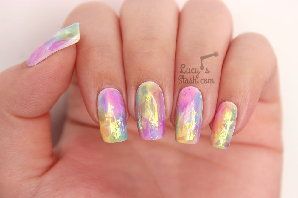 Rainbow Opal Nails Tutorial The