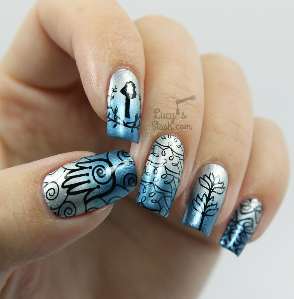Stamping Nail Art with Bundle Monster Work It! Plates &amp&#x3B; Review