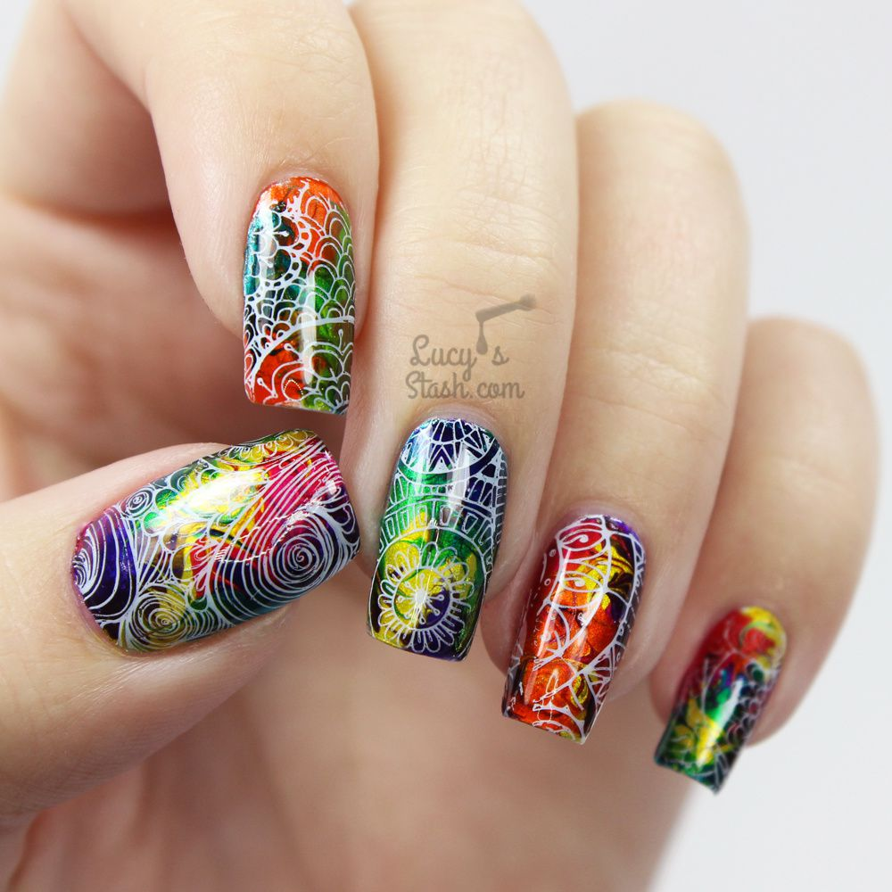 Marbled Madness Nail Art Tutorial Bundle Monster Shangri La