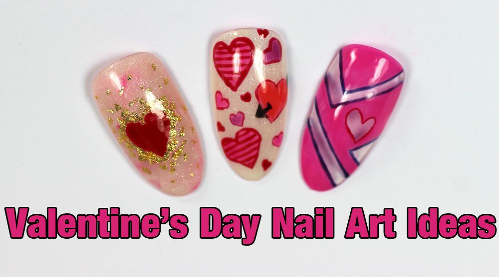 3 Valentines Day Nail Art Ideas With Ibd Gel Polish Tutorial