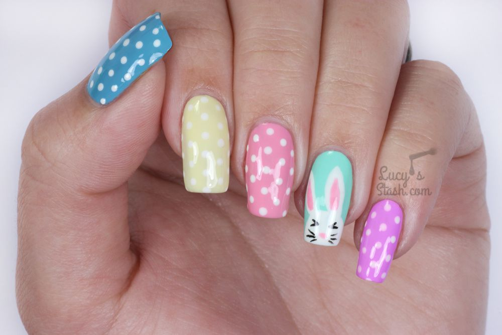 Easter Bunny &amp&#x3B; Polka Dots Nails | Advanced TUTORIAL