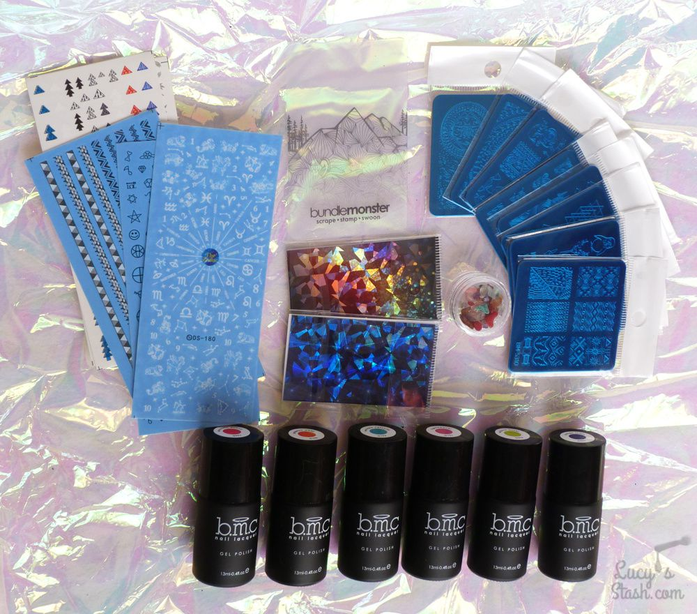 Paint All The Nails Presents Pastel Geometric Nail Art + Bundle Monster Festival Box Review
