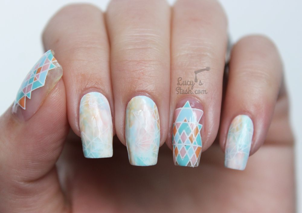 Paint All The Nails Presents Pastel Geometric Nail Art Bundle Monster Festival Box Review