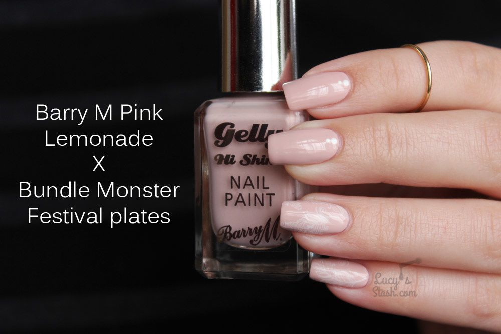 Soft Pink Nail Art Manicure feat. Barry M & Bundle Monster