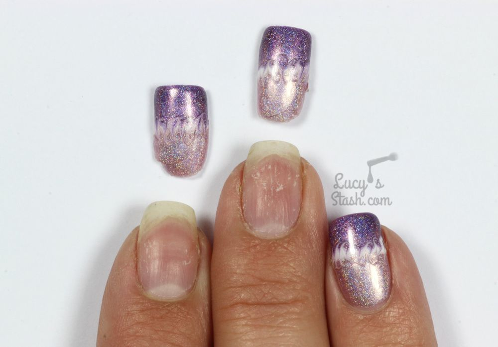 Holographic Marble Nail Art with Color Club Gel Polish
