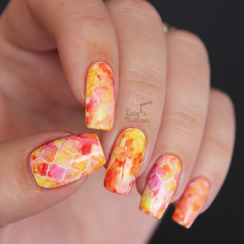 Paint All The Nails Presents Watercolour | Nail Vinyl & Sharpie Nail Art
