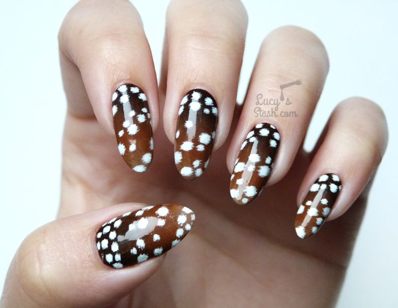 Paint All The Nails Presents Animal Print - Fawn Print Nail Art ...