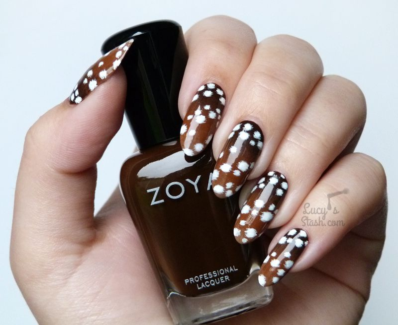 Paint All The Nails Presents Animal Print - Fawn Print Nail Art & TUTORIAL