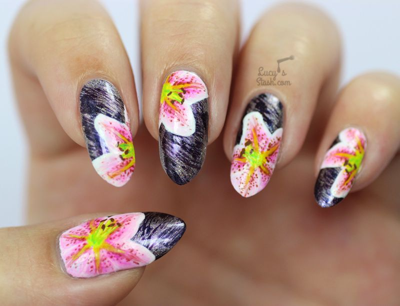 ABC Challenge: L is for Lilies | Nail Art Challenge