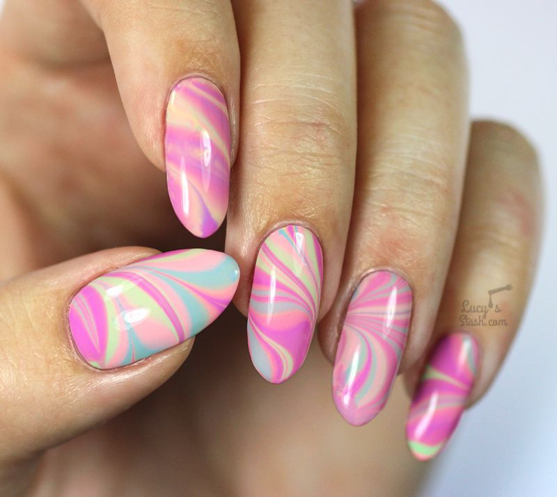 ABC Challenge: M is for Marbled Nail Art | Nail Art Challenge
