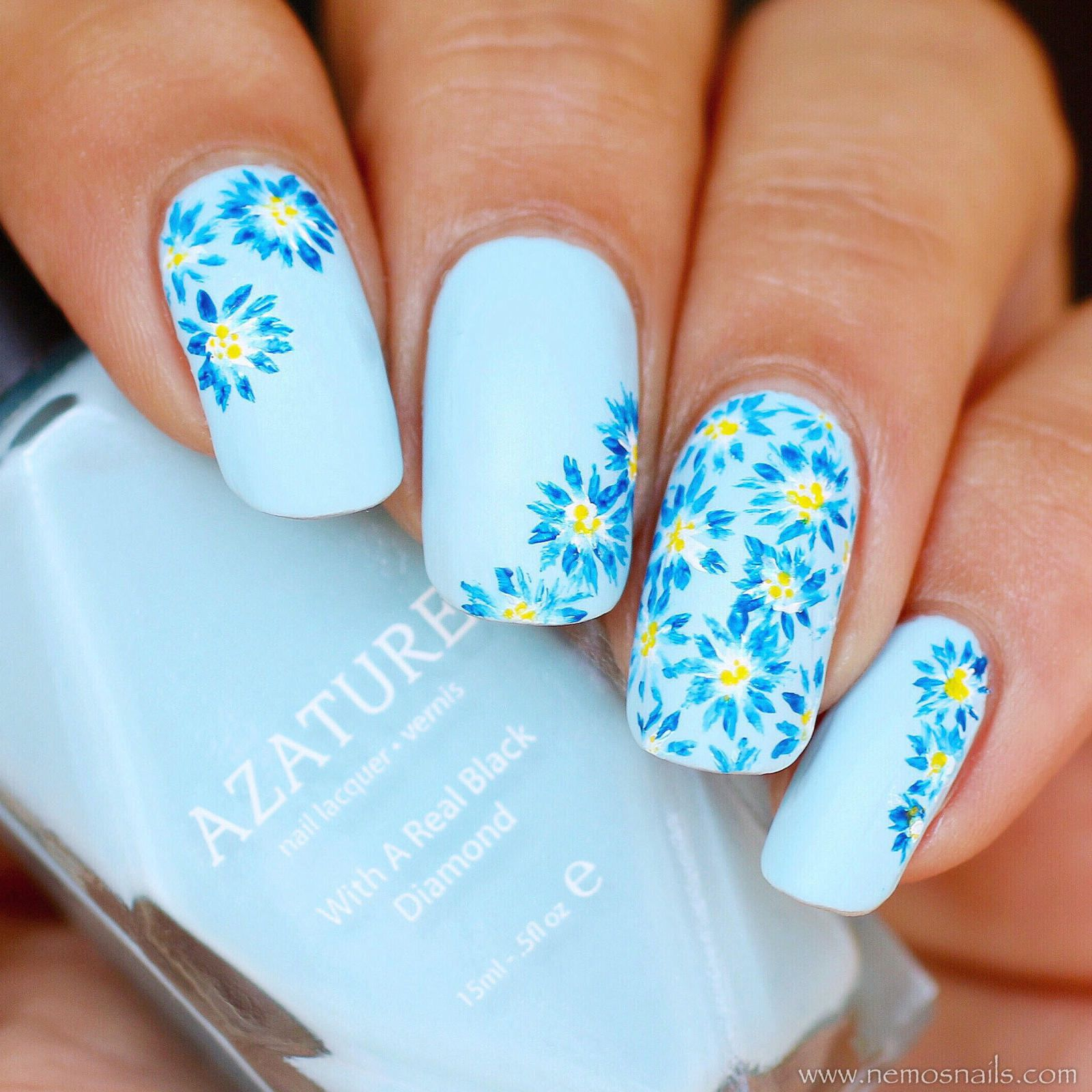 Guest Post: Floral Nail Art from Atima aka Nails by Nemo