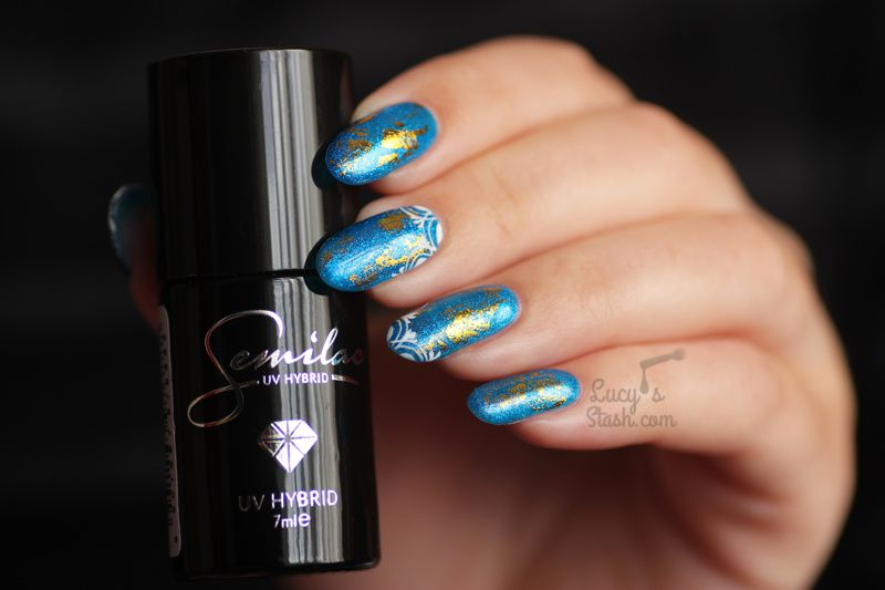 Paint All The Nails Presents Gilded | Gel Polish Nail Art with Semilac