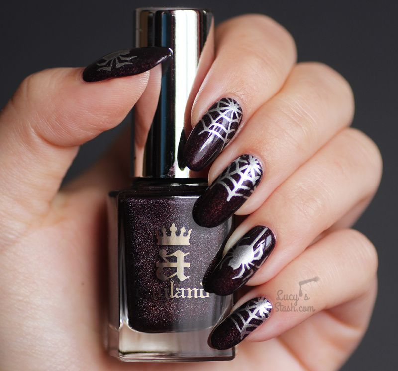 Spider Web Nails Simple Stamping Nail Art Feat A England In Robe
