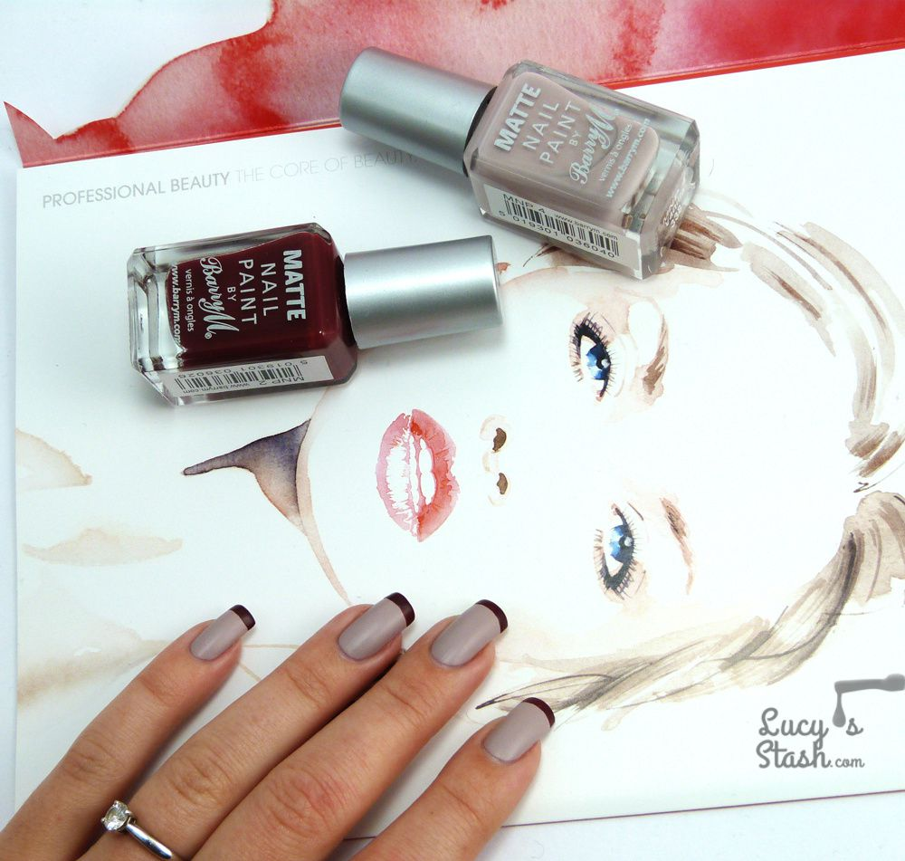 Reversed French Tips &amp&#x3B; Barry M Vanilla Review