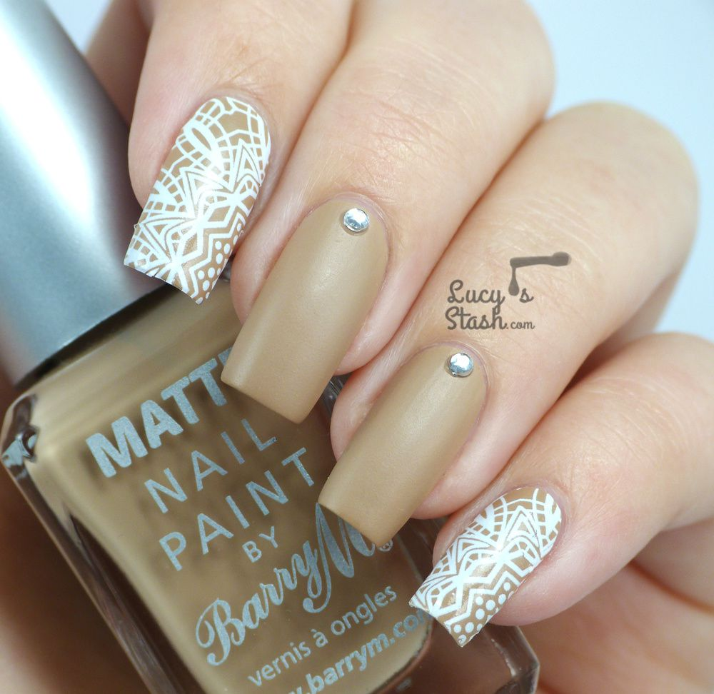 White Lace Decals Nail Art feat. Barry M and Born Pretty Store