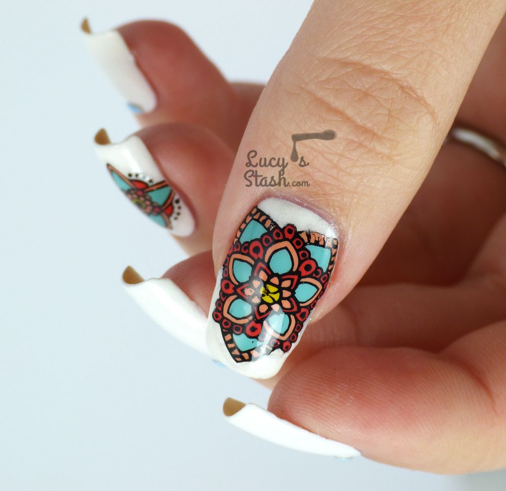 Colourful Stamping Decals Nail Art feat. MoYou London