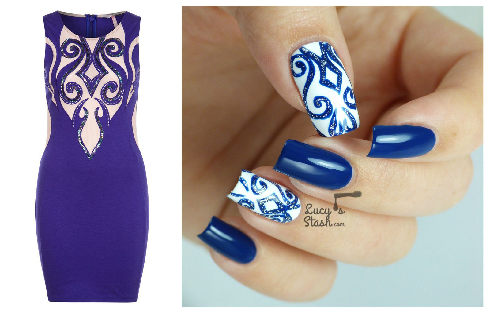 Nail Design For New Years Eve Party Match Your Nails Dress