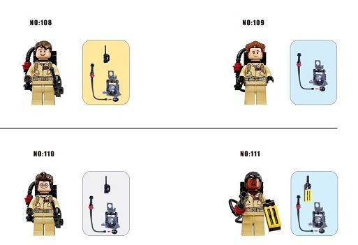 Minifigs Ghostbusters - bootleg Xinh
