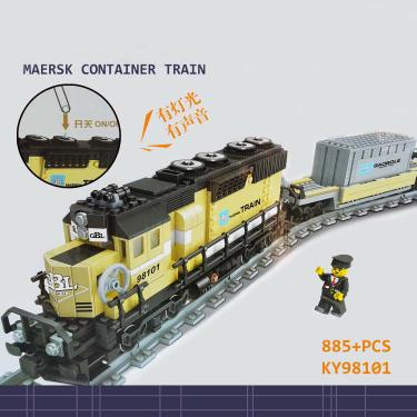 Gbl train ky98101 - lego maersk bootleg 10219