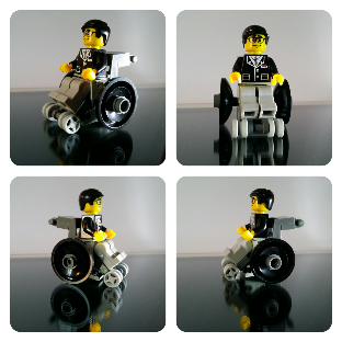 Lego moc fauteuil roulant - wheelchair
