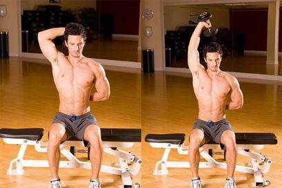 1)15 biceps curls,2)15 triceps extension,3) 15 biceps hammer,4) 15 dips,5) side shoulder raises,6) wall push-up,7) front shoulder raises,8) chest presses,