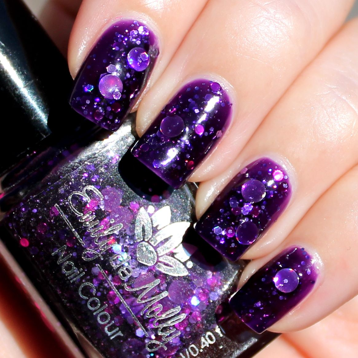 Picture Polish Revolution Glitter Base / Emily de Molly Cosmic Forces / Poshe Top Coat