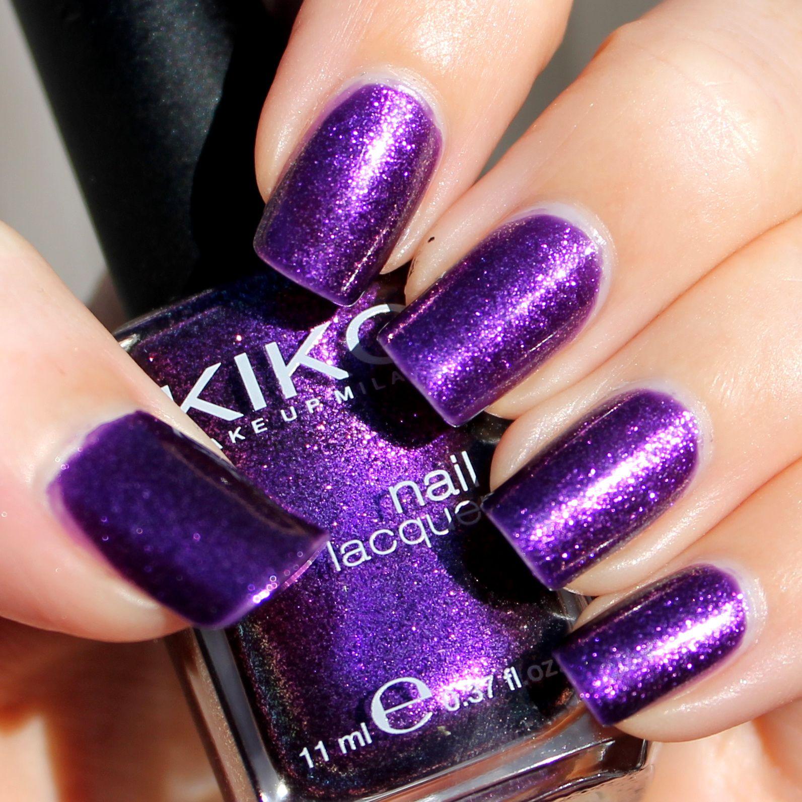 Duri Cosmetics Rejuvacote / Kiko Violet Orchid Microglitter / Poshe Top Coat