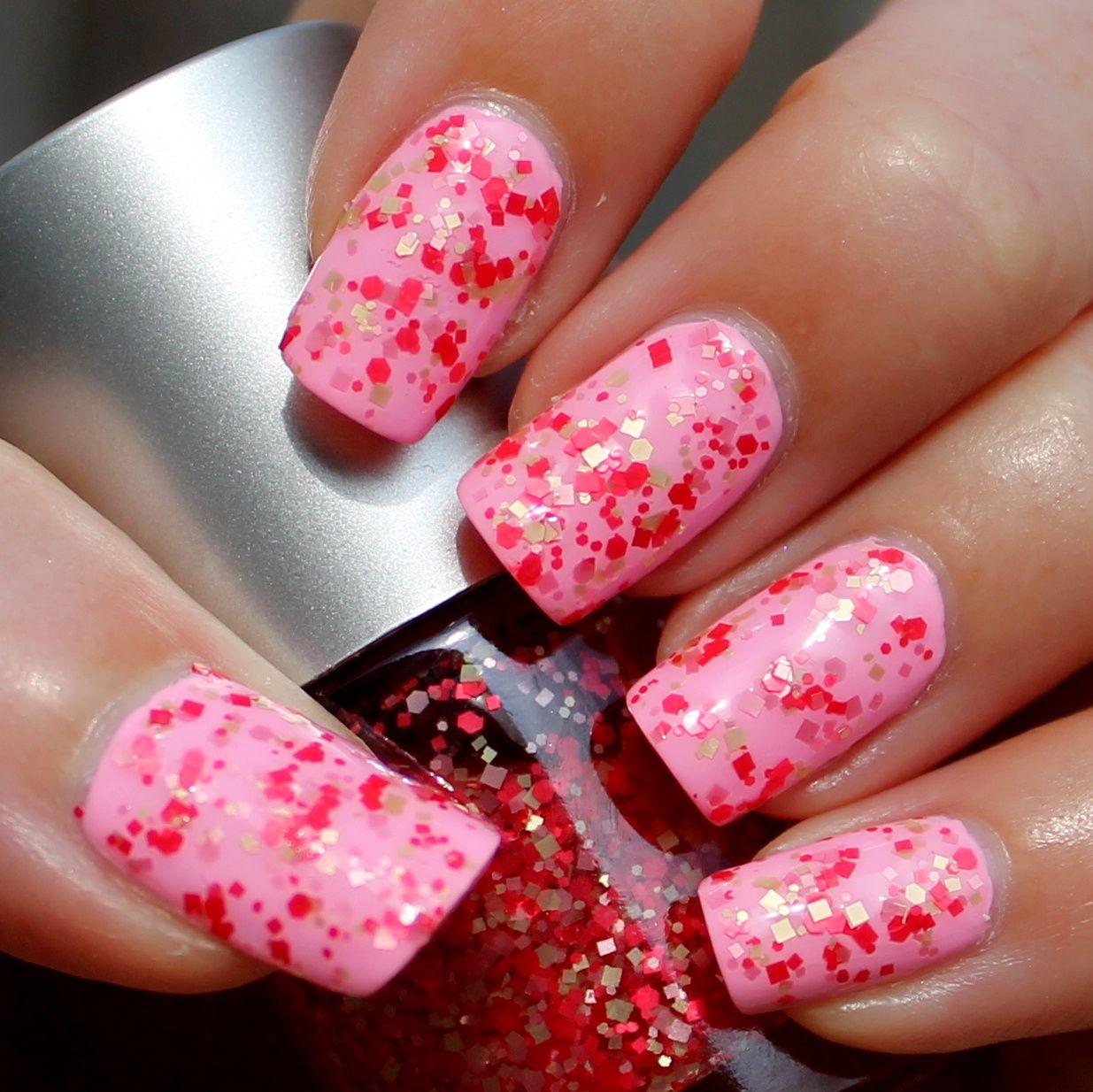 Pink Dipsy Bulle Franken Polish Sweet Glitter