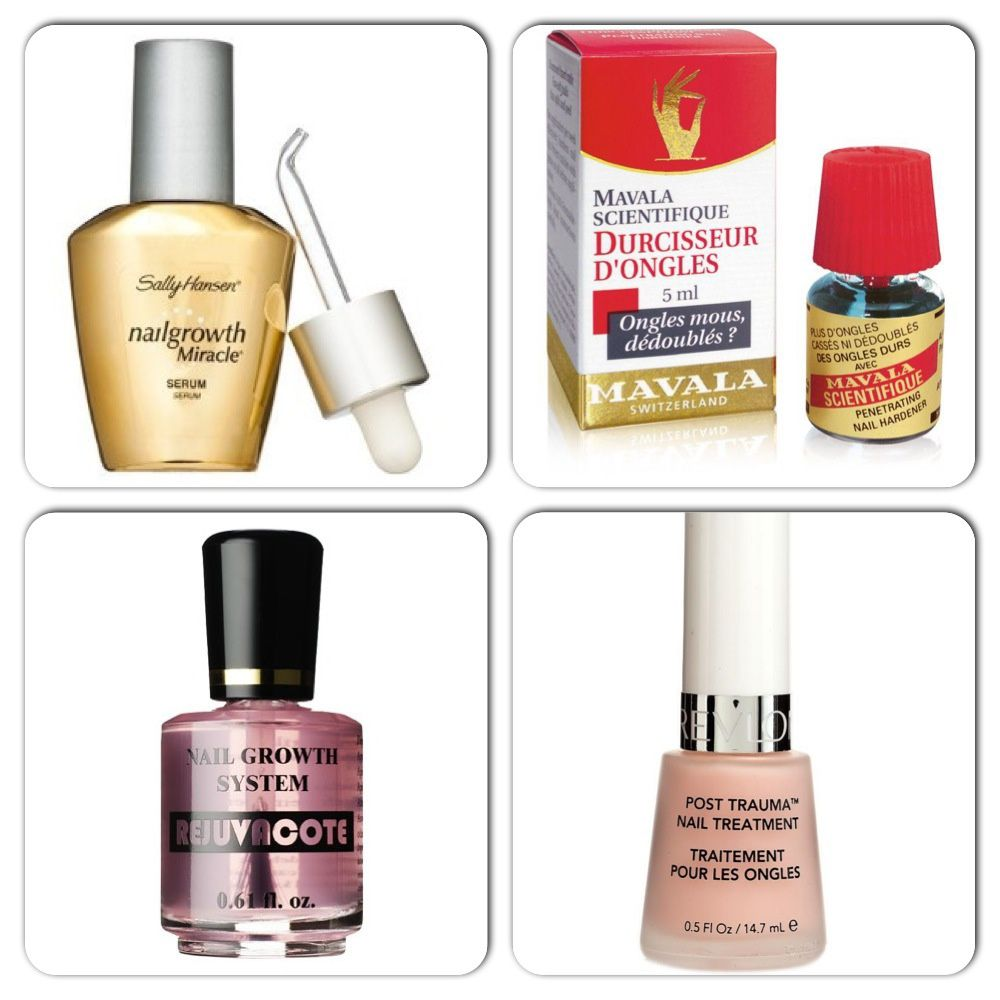 Sally Hansen Nail Growth Miracle Serum / Mavala Scientific / Duri rejuvacote / Revlon Post Trauma Nail Treatment
