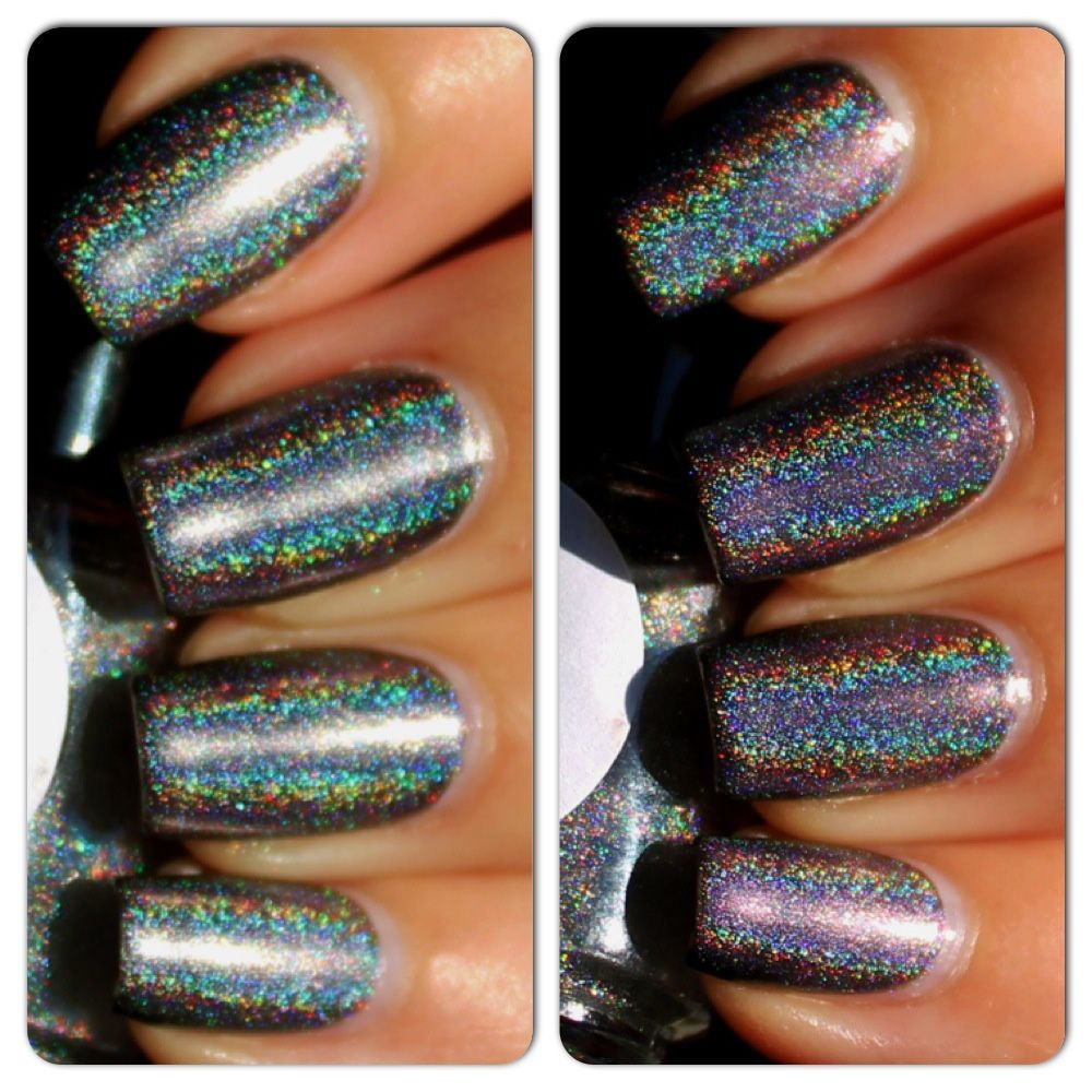 Duri Cosmetics Rejuvacote / Essie For The Twill of It / Nail Nation 3000 Holographic Top Coat