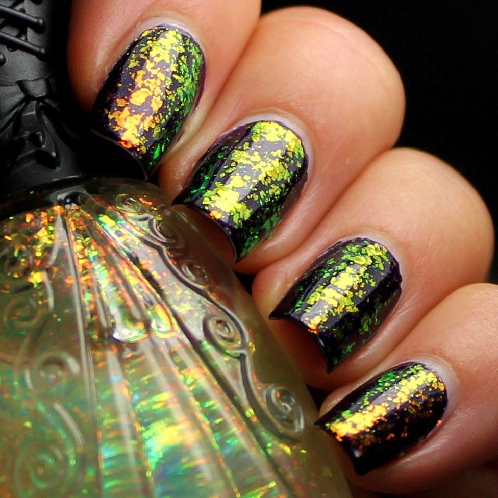 Nfu Oh Aqua Base / Glittering Elements Countess / Nfu Oh 38 / Poshe Top Coat