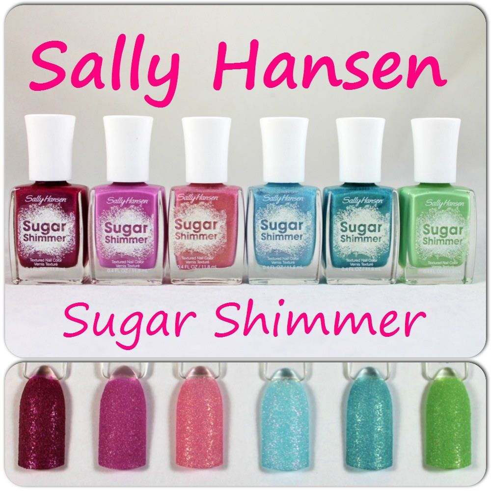 Sally Hansen Sugar Shimmer Cinny Sweet, Berried Under, Sugar Plum, Sugar Cloud, Work of Tart & Mint Tint
