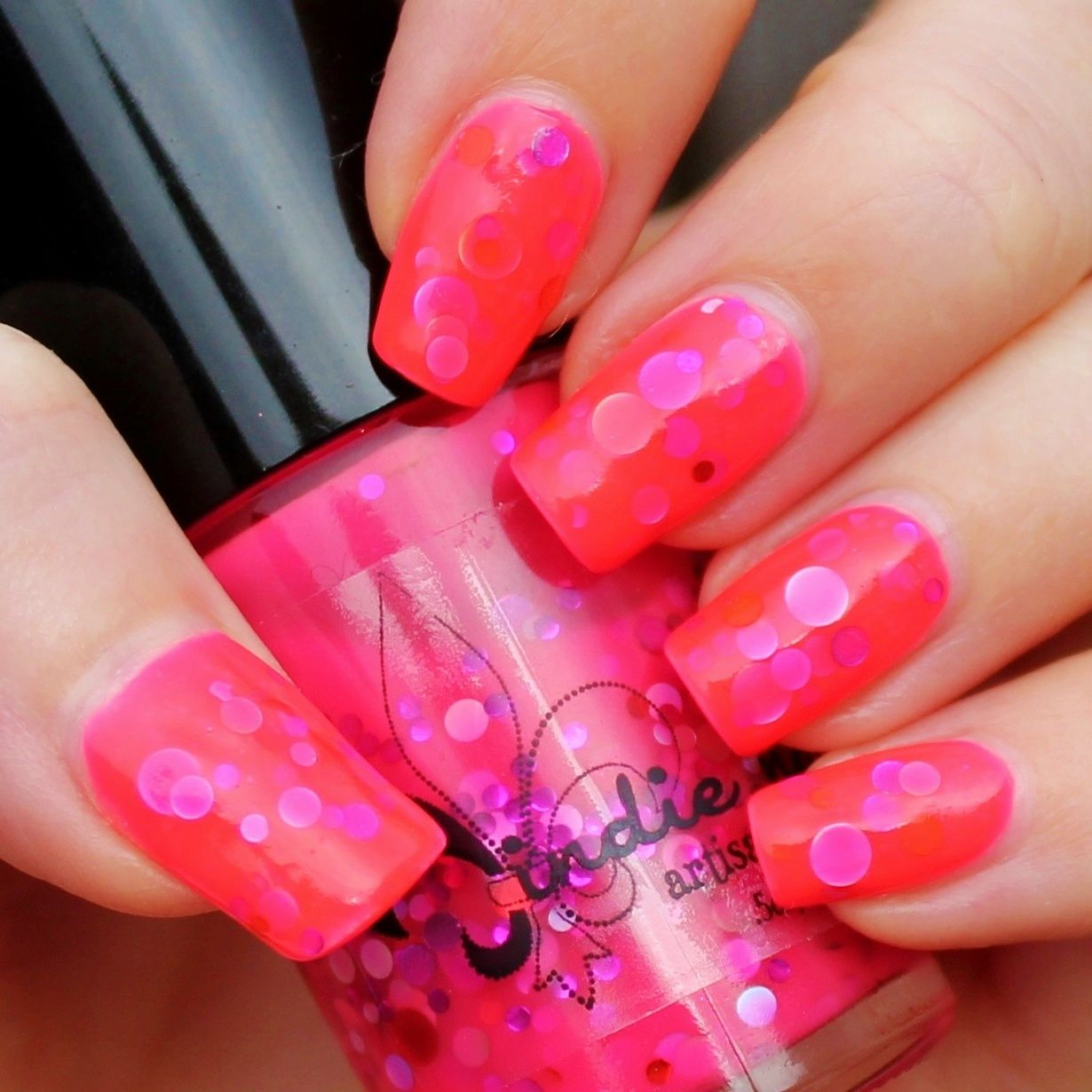 Peel-off Base / Jindie Nails Sexy Barbie / Nail Pattern Boldness Glitter Food / Poshe Top Coat