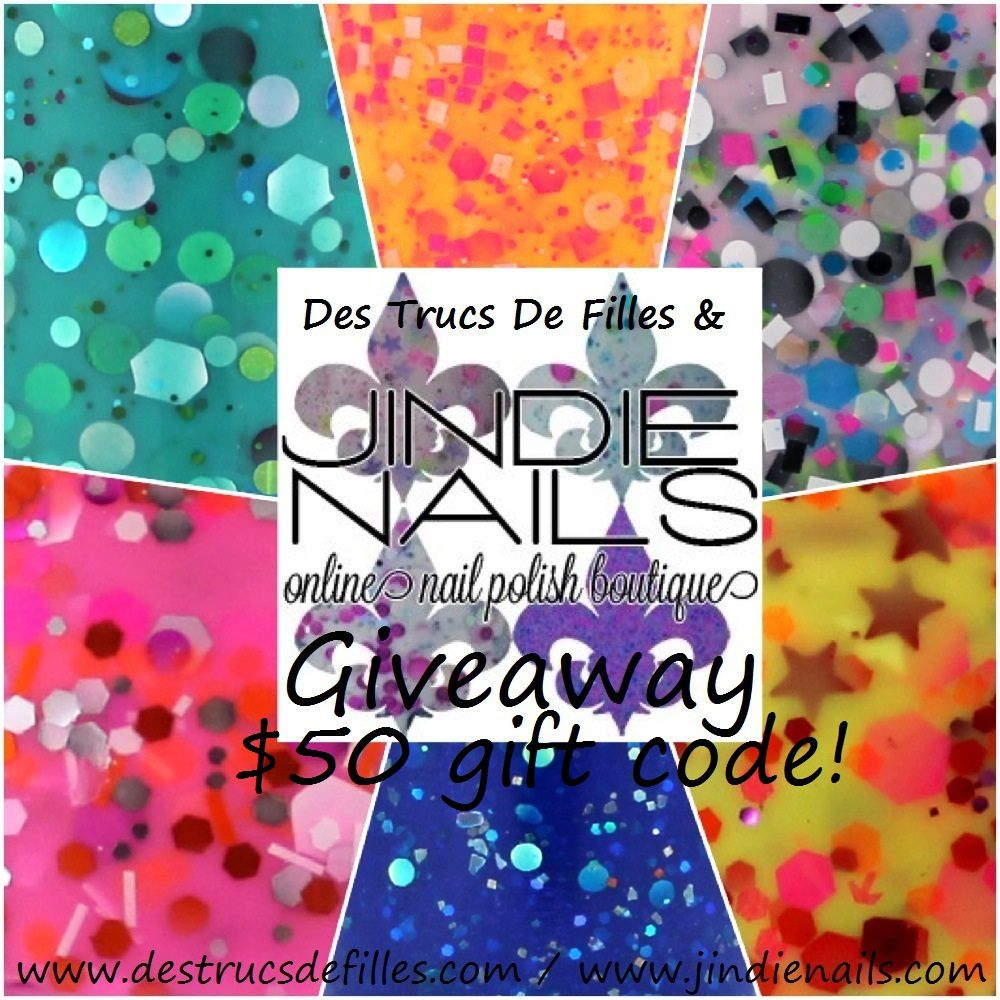 Jindie Nails $50 gift code Giveaway is almost over!