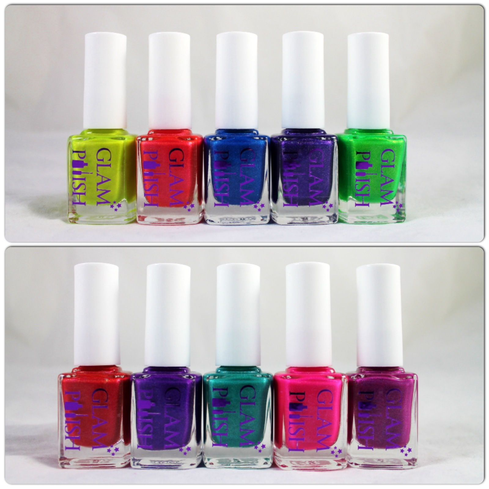 Glam Polish We Go Together, Hopelessly Devoted, Summer Nights, Indigo Sparkle, Grease is the Word, You're the One that I Want, Lokk at me I'em Sandra Dee, Sandy, Pink Ladies & Beauty School Dropout.